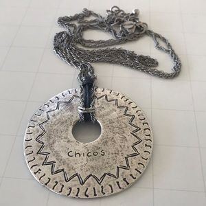 Chico's long necklace with patina